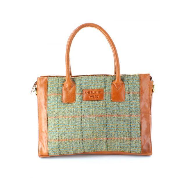 Shetland Tweed Handbag - Tweed - 0701/90 LGE GRAB