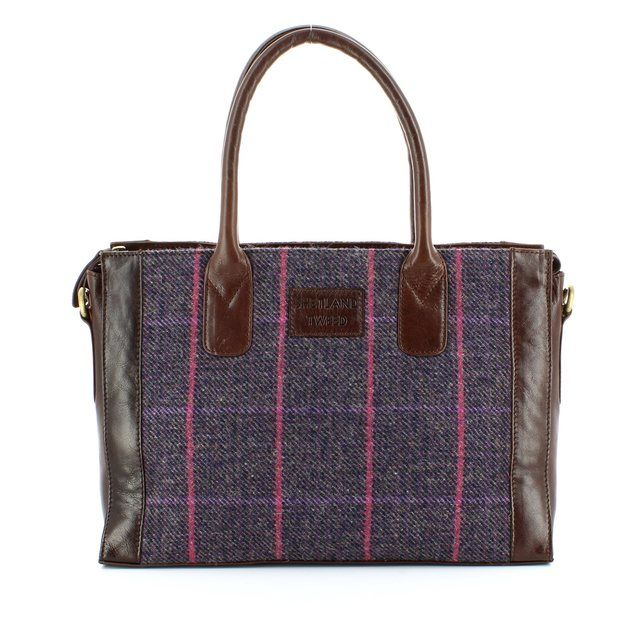 Shetland Tweed Handbag - Tweed - 0701/92 LGE GRAB