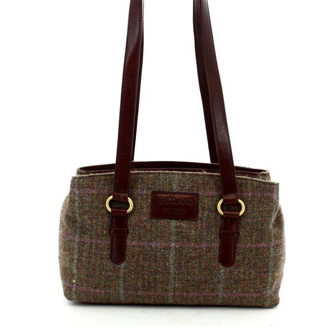 Shetland Tweed Handbag - Various - 0501/50 3 ZIP