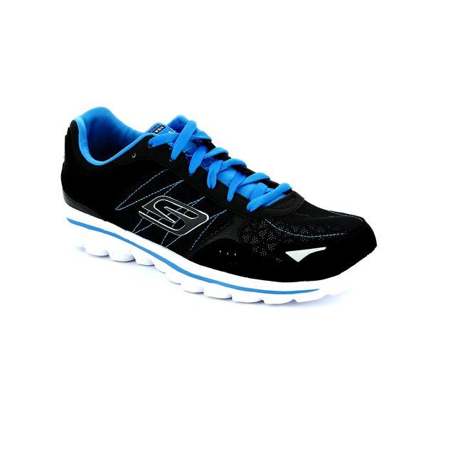 Skechers Everyday Shoes - Black-blue - 95691 B GO WALK 2