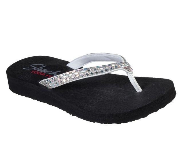 Skechers Toe Post Sandals - White - 32918 MEDITATION YOGA