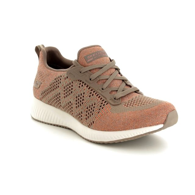 Skechers Trainers - Taupe - 31368 BOBS SQUAD