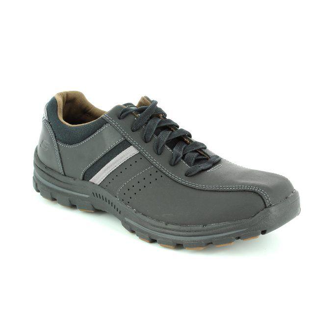Skechers Braver Alfano 64529 BBK Black casual shoes