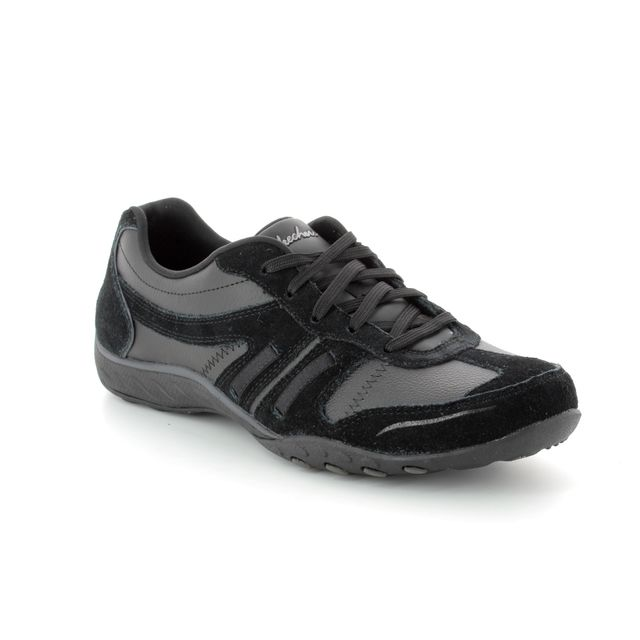 Skechers Lacing Shoes - Black - 23013 BREATH EASY