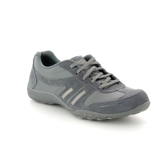 Skechers Lacing Shoes - GREY - 23013 BREATH EASY