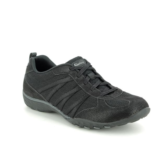 Skechers Lacing Shoes - Black - 23812 BREATHE EASY