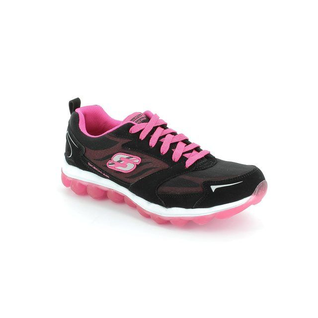 Skechers Busy Bounce 80221 BKHP Black hot pink combi everyday shoes