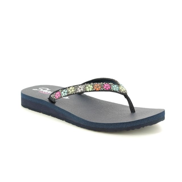 Skechers Daisy Delight 31559 Navy Toe Post Sandals