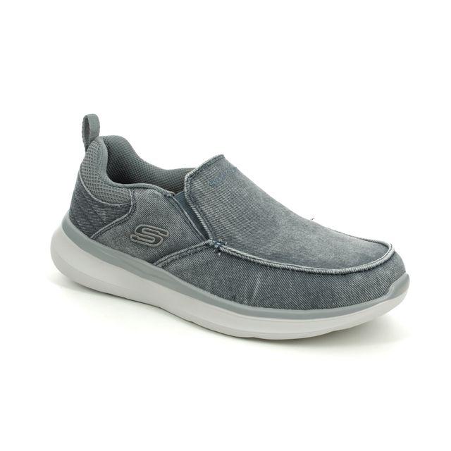 Skechers Delson Larwin 210025 BLU Blue Slip-on Shoes