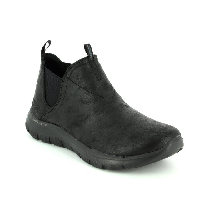 Skechers Done Deal 12769 Black ankle boots