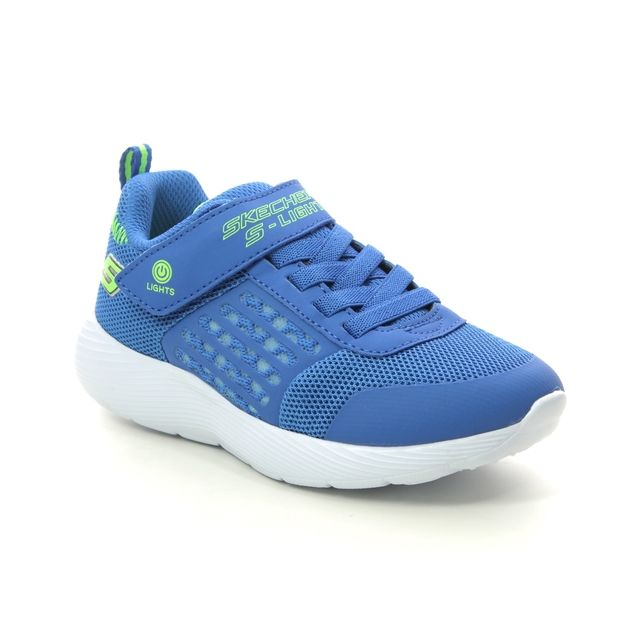 Skechers Trainers - Blue Lime - 90740L DYNA LIGHTS