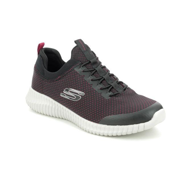 Skechers Elite Flex Belburn 52529 Black-red combi trainers