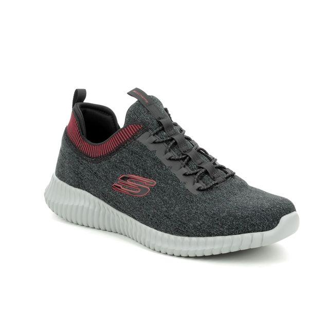 Skechers Elite Flex Harntell 52642 BKRD Black-red combi trainers