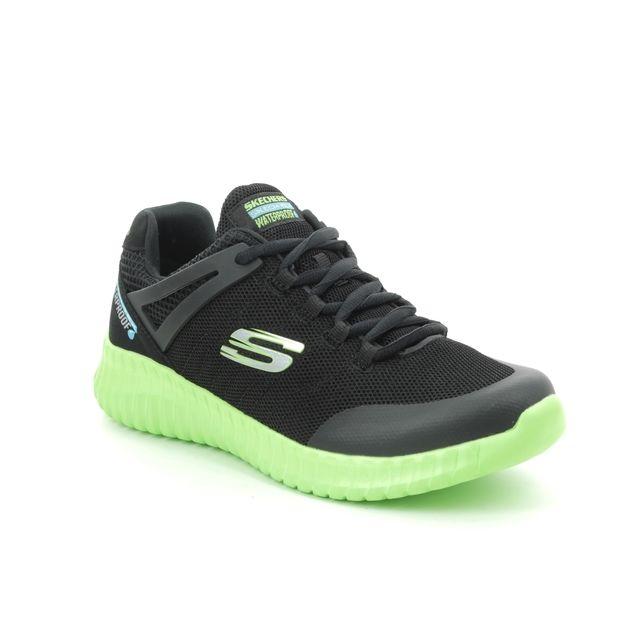Skechers Trainers - Black-Lime - 97893 ELITE FLEX TEX