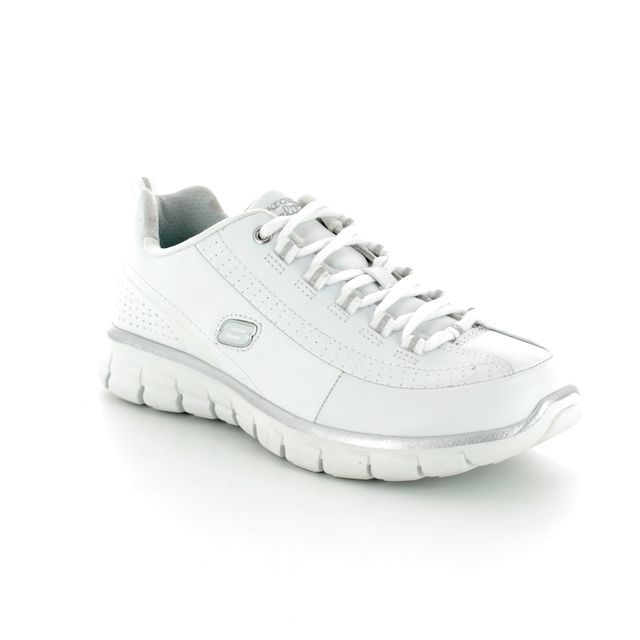 Skechers Lacing Shoes - White-silver - 11798 ELITE STATUS