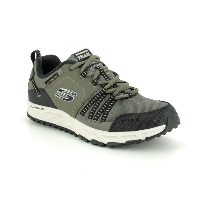 Skechers Trainers - Olive Black - 51591 ESCAPE PLAN