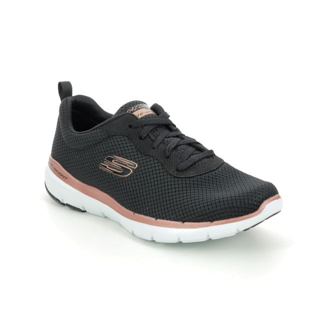 Skechers First Insight 13070 Black Rose Gold trainers