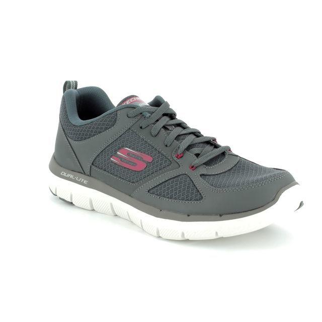 Skechers Trainers - Grey-Red - 52189 FLEX ADVANTAGE