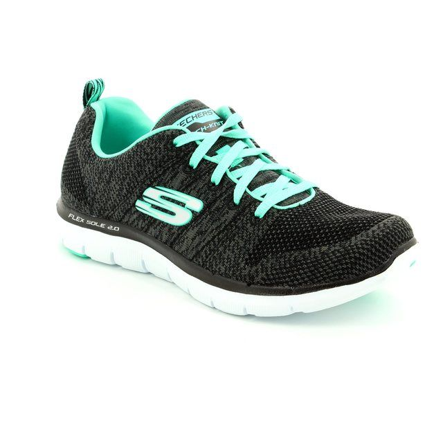 Skechers Flex Appeal 2 12756 BBK Black trainers