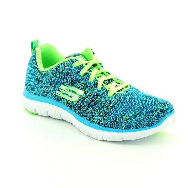 Skechers Trainers - Blue - 12756/357 FLEX APPEAL 2