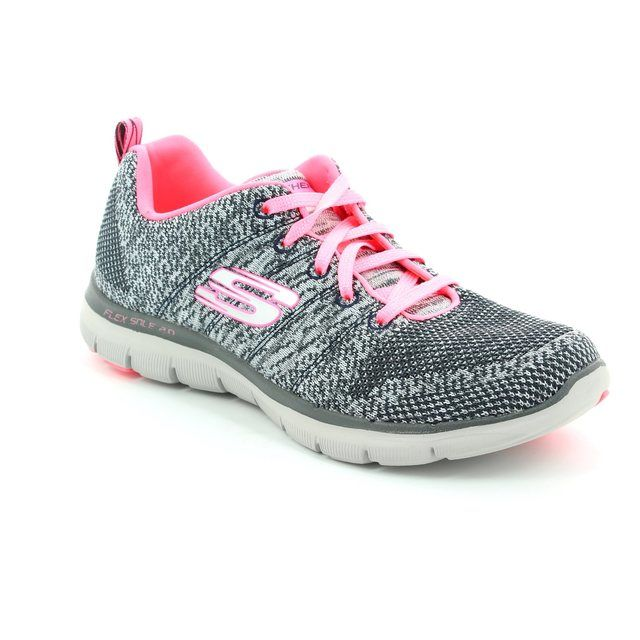 Skechers Trainers - Charcoal - 12756 FLEX APPEAL 2