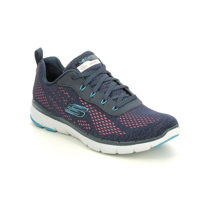Skechers Trainers - Navy Pink - 13475 FLEX APPEAL 3.0
