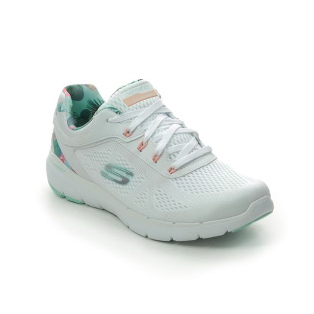 Skechers Trainers - White Mint - 149002 FLEX APPEAL 3.0