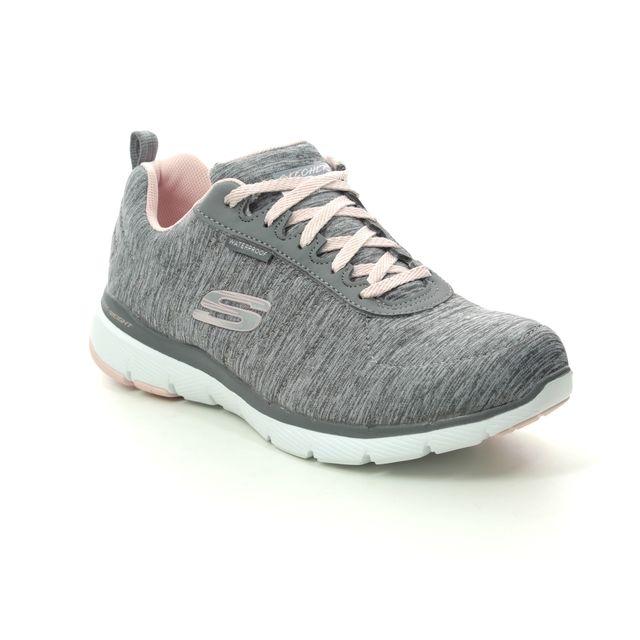 Skechers Trainers - Grey Light Pink - 88888400 FLEX APPEAL TEX