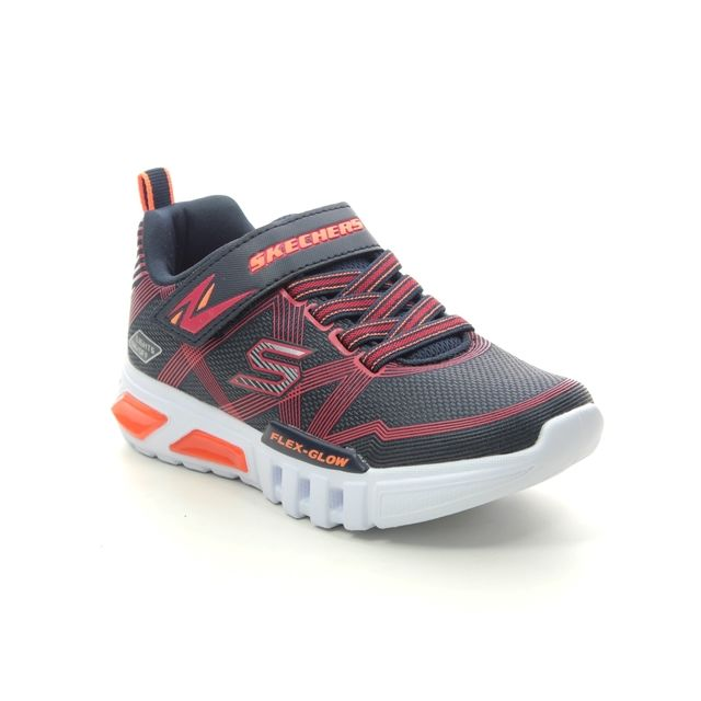 Skechers Trainers - Navy Red - 90542L FLEX GLOW JNR