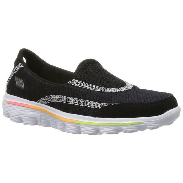 Skechers Everyday Shoes - Black-white - 81030/33 G GO WALK 2