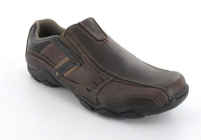 Skechers Garzo 62895 CHOC Chocolate brown casual shoes