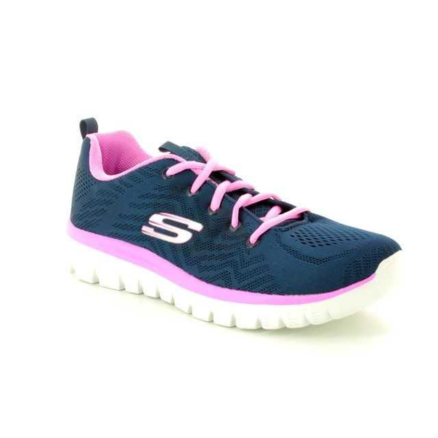 Skechers Trainers - Navy-Pink - 12615/825 GET CONNECTED