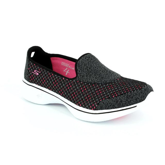 Skechers Trainers - Black hot pink combi - 14145/553 GO WALK 4