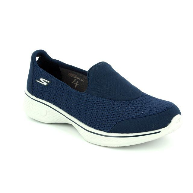 Skechers Trainers - Navy Grey combi - 14148 GO WALK 4