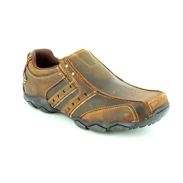 Skechers Heisman 61779 BRMS Brown casual shoes