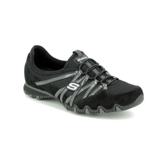 Skechers Lacing Shoes - Black Charcoal Grey - 21159 HOT TICKET BIKER