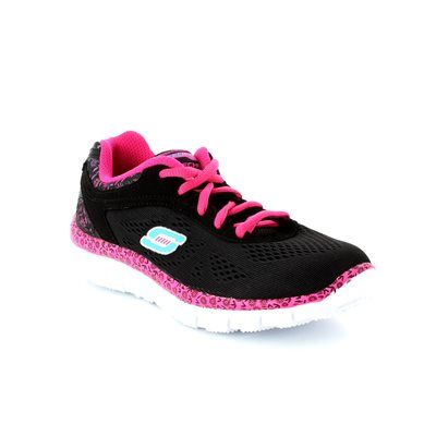 Skechers Island Style 81888 BKHP Black hot pink combi trainers
