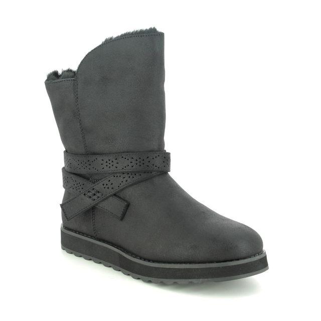 Skechers Keepsakes Mid 167116 BBK Black ankle boots