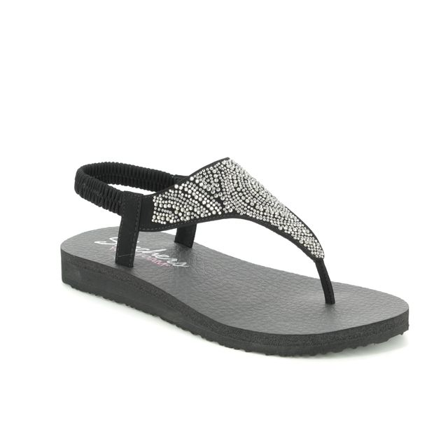 Skechers Flat Sandals - Black - 32919 MEDITATION MOON