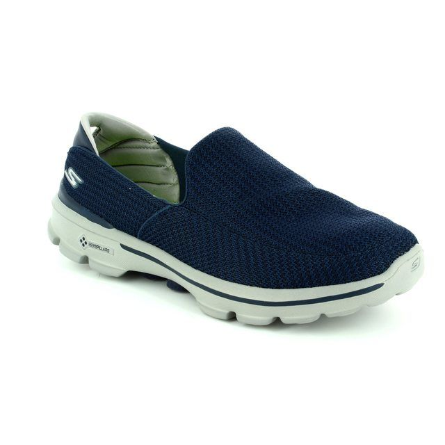 Skechers Mens Go Walk 3 53980 NVGY Navy Grey combi trainers