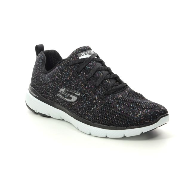 Skechers Trainers - Black - 13078 METAL WORK FLE