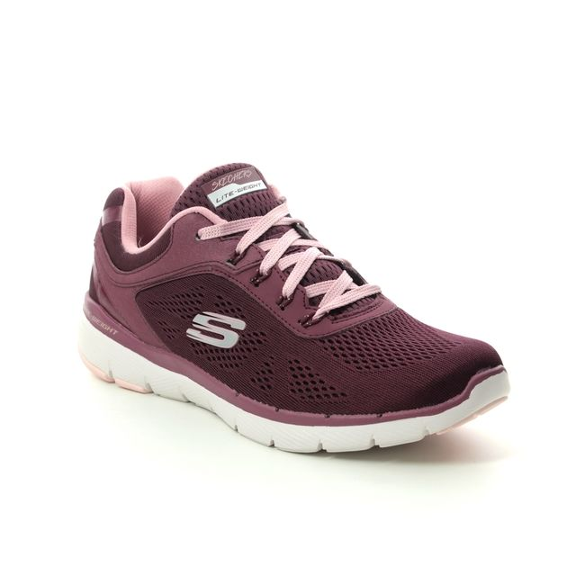 Skechers Trainers - Burgundy Pink - 13059 MOVING FAST FL