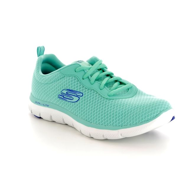 Skechers Trainers - Turquoise - 12775 NEWSMAKER