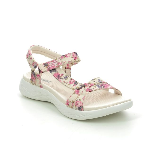 Skechers Walking Sandals - Natural - 140018 ON THE GO FLORAL