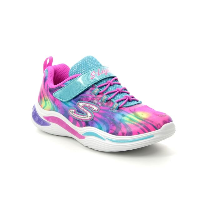 Skechers Trainers - Pink Turquoise - 20203 POWER PETALS