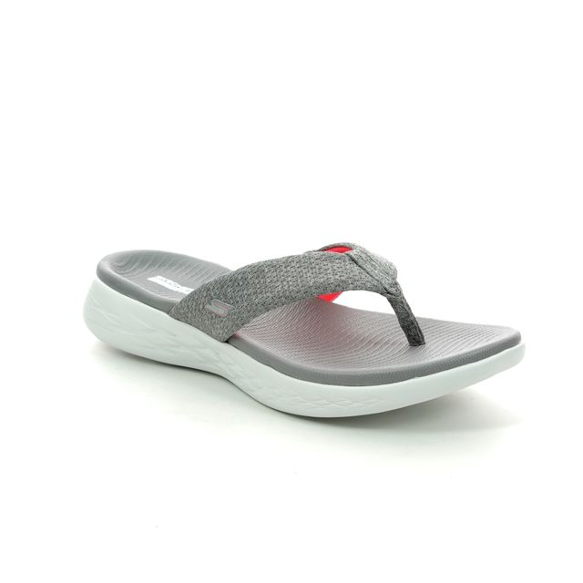 Skechers Toe Post Sandals - Grey Pink - 15304 PREFERRED
