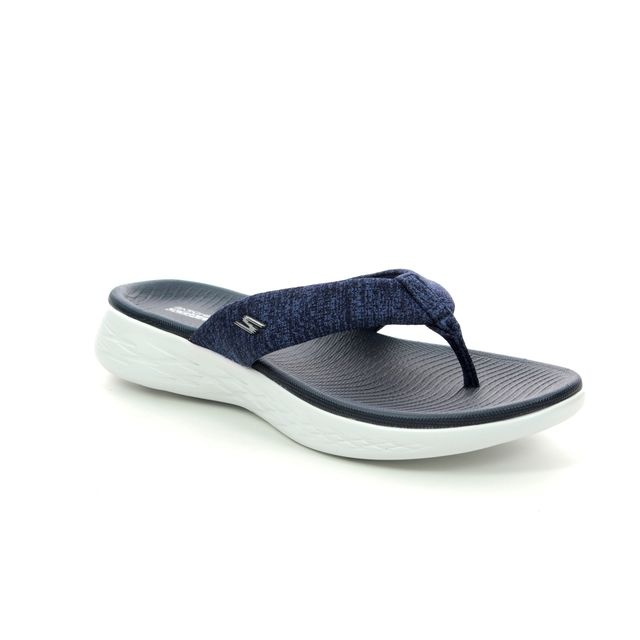 Skechers Toe Post Sandals - Navy - 15304 PREFERRED