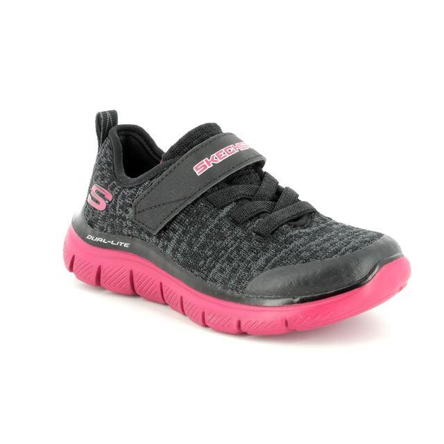 Skechers Trainers - Black Grey - 97498 QUICK JOLT