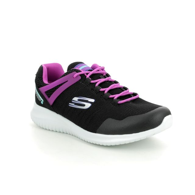 Skechers Rainy Daze 81538L BKHP Black hot pink trainers