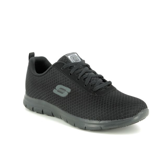 Skechers Trainers - Black - 77210 SAFETY WORK GHENTER SLIP RESISTANT